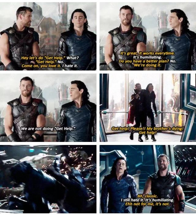 Thor and Loki funny brother moments