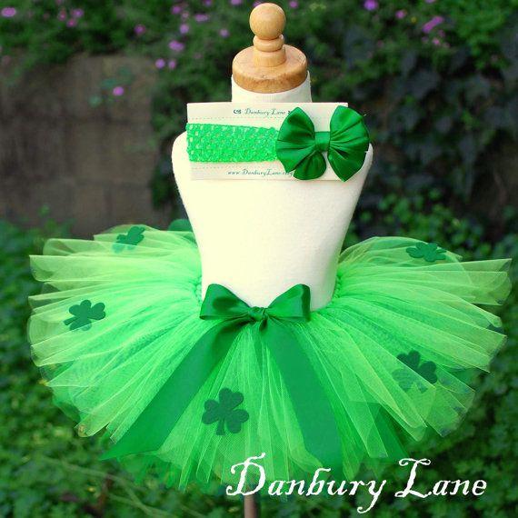 St. Patrick's Day shamrock tutu gonna make for harmony :)!!!!