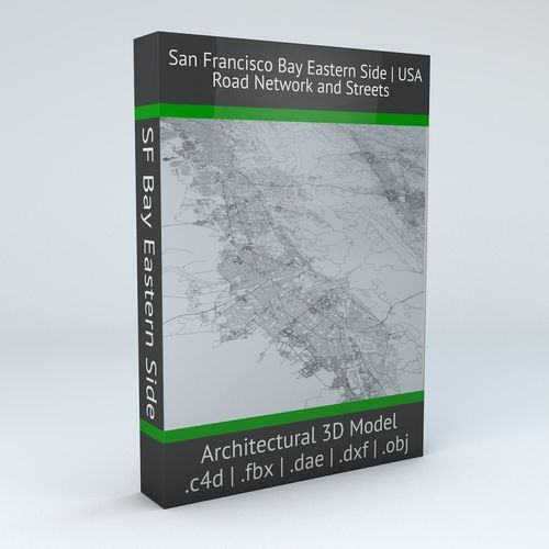 San Francisco Bay Eastern Side Road Network and Streets | 3D Model