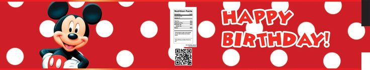 Awesome FREE Mickey Mouse Water Bottle Labels