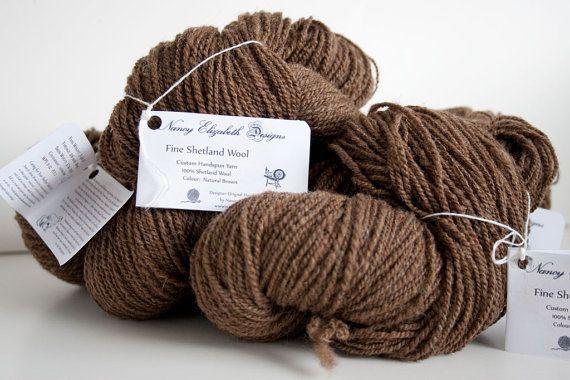 Custom Handspun Fine Shetland Wool Yarn  by NancyElizabethDesign, $6.25