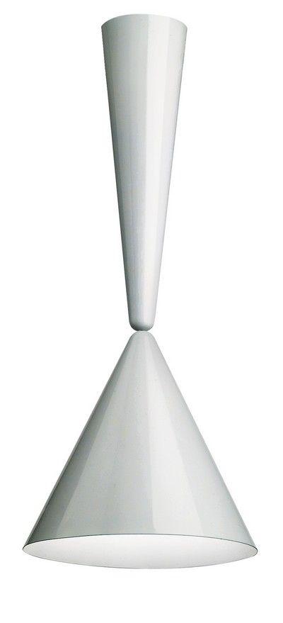 DIABOLO  Lampada a sospensione    1998 Progetto: Achille Castiglioni    1998 Produzione: Flos    Lampada in alluminio verniciato con sistema a saliscendi nascosto.