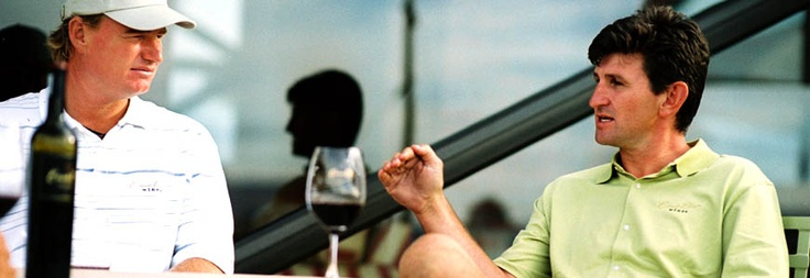 "Ernie Els owns a vineyard in South Africa ""wine is like golf – in both endeavours nature has the last ruling""."