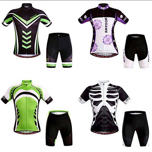 iPretty-Set-Traje-Pantaln-de-Ciclismo-MTB-Maillot-de-Bici-Jersey-para-Ciclista-Mangas-Cortes-Transpirable-Negro-Talla-XXL-0