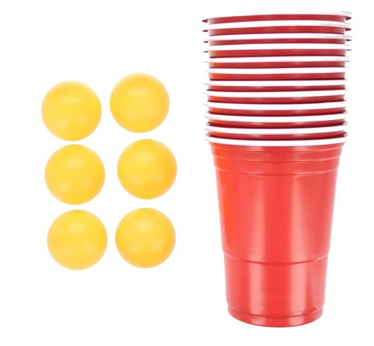 18pc Beer Pong Set Drinking Game Alcohol American Red Cup Beerpong Frat Party | eBay