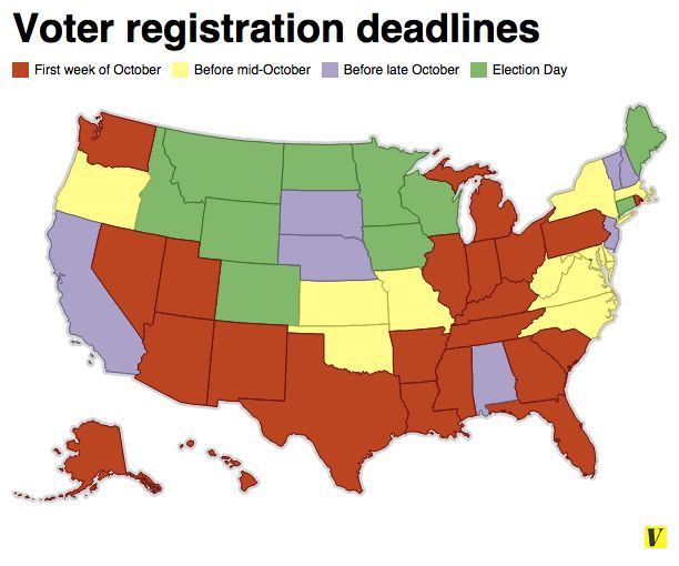 Voter registration deadlines 2014