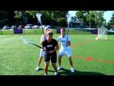 STX Women's Lacrosse - Defensive Double Team with Becky Clipp - YouTube