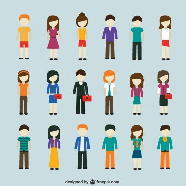 Modern people icons Freepik-People-pin-28