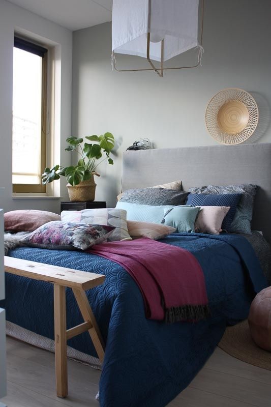 XL sprei in mooie kleur blauw. 260 cm bij 260 cm dus past op het grootste tweepersoonsbed. Van Fest Amsterdam bij webshop Ookinhetpaars.