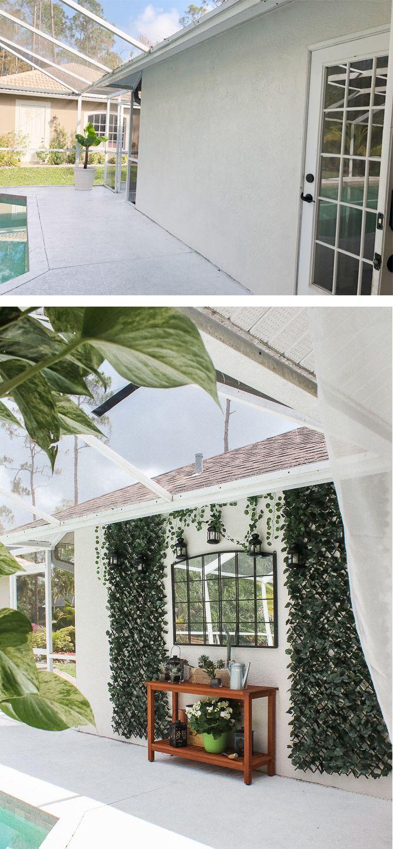 Blank Patio Turned Plant Filled Retreat Lanai Decorating Patio Pergola