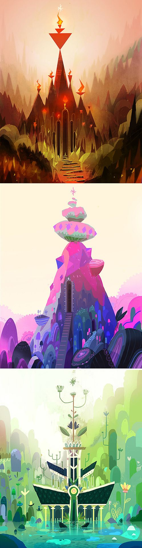 Beautiful illustrations. The mix of solid shapes and texture is gorgeous. Clément De Ruyter