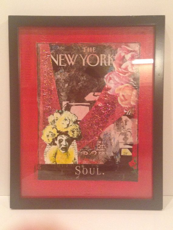 The New Yorker  Mixed Media Collage Art Portrait by PiazzaMaggiore