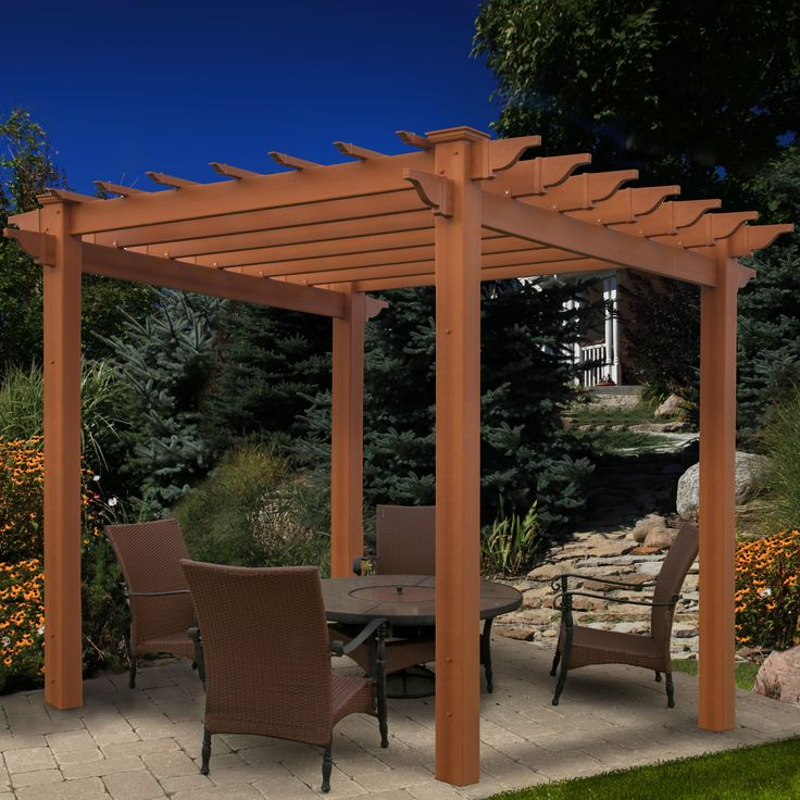 die besten 25 vinyl pergola ideen auf pinterest. Black Bedroom Furniture Sets. Home Design Ideas