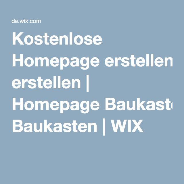 Kostenlose Homepage erstellen | Homepage Baukasten | WIX