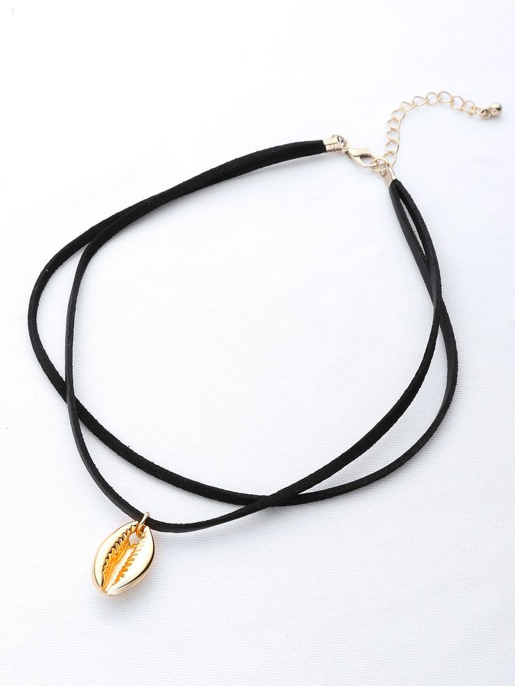 Shop Shell Pendant Double Layer Necklace online. SheIn offers Shell Pendant Double Layer Necklace & more to fit your fashionable needs.