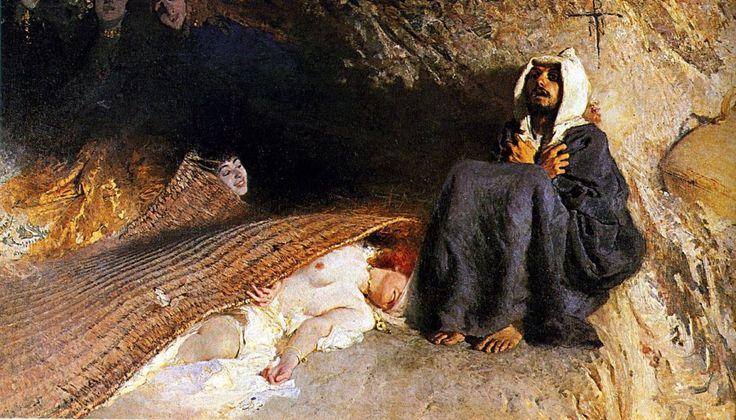 Domenico Morelli - La tentación de San Antonio (1878)