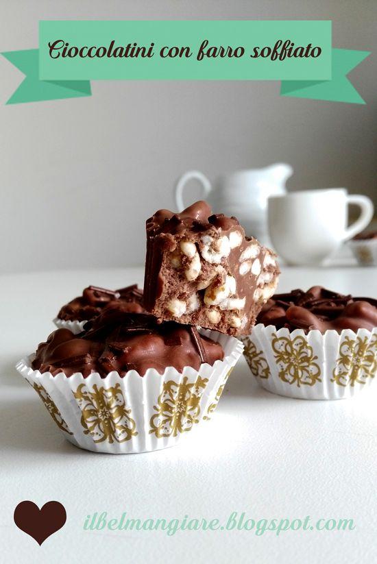 Il Bel Mangiare: Cioccolatini al farro soffiato al miele