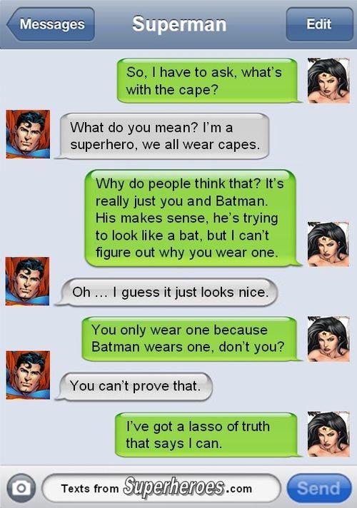 Why Superman Wears a Cape, however Superman comics preceded Batman comics.