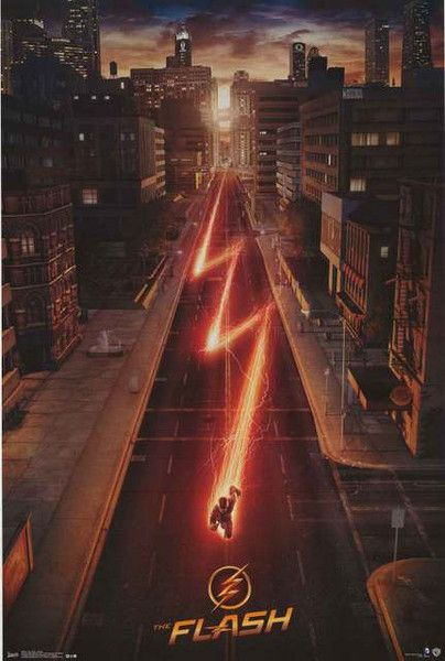 The Flash Street Speeder DC Comics Poster 22×34