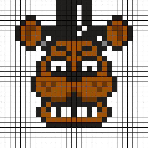 Freddy Fazbear Kandi Pattern