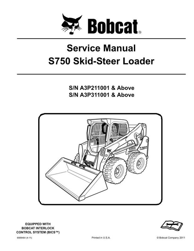 bobcat s750 skid-steer loader service manual - 6989464 (4-11)