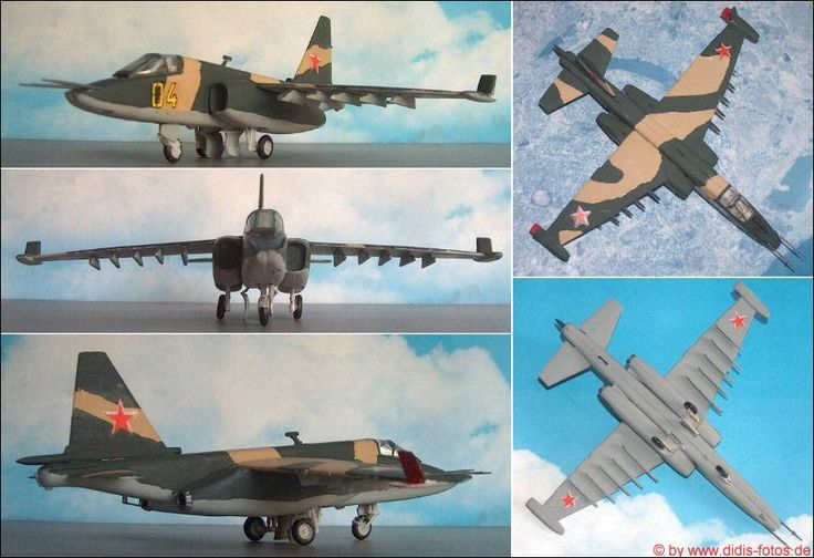 Sukhoi Su-25 (Frogfoot) Erdkampfflugzeug (Hobbycraft 7201) 1:72