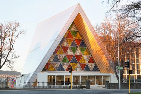 Cardboard Cathedral: Temporary Structure Acts as Placeholder
