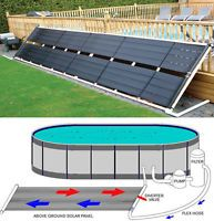 "48"" x 20' Inground / Above Ground Pool Solar Panel Pool Heater 80 Sq Ft 4' x 20'"
