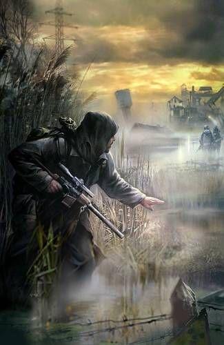 сталкер на болоте - Галерея по Survarium, Stalker 2, Metro, Новый Союз и Постапокалипсис