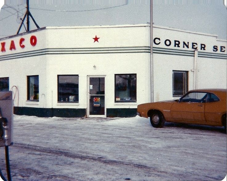Texaco Corner Service -Picture taken approximately 1977, situated at the entrance to town this full service station was a hub of activity.