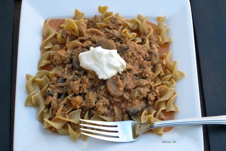 Turkey StroganoffGround Turkey Recipe, Healthy Slow Cooker, Slow Cooker Turkey, Slow Cooker Recipe, Crock Pots, Crockpot, Turkey Stroganoff, Slowcooker, Greek Yogurt
