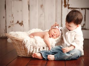 And this is why I want a little boy first! The big brother is so special...like the little protector :) Too Cute!