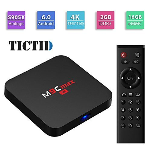 TICTID M9C max Android 60 TV Box Amlogic S905X Quadcore 64 bits 2GB DDR316GB eMMC with Kodi 161 H265 HDMI 20 VP9 HDR Video Decoder 4k 2k Output 24G WIFI Streaming Media Player -- See this great product.