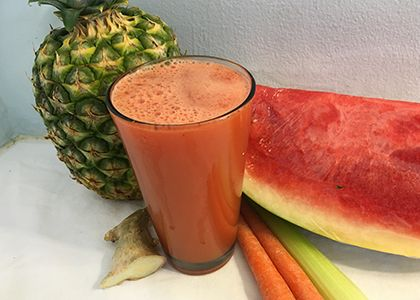 Dreaming of Summer Juice Recipe - Infuse a little summer into a chilly spring morning for an electrolyte-packed, nourishing and light start to the day or afternoon pick-me-up. This juice can replace any store-bought sports drink!