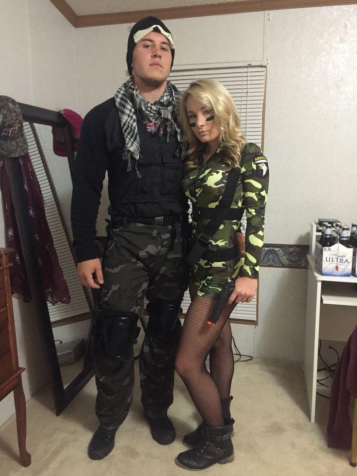 Couples Costume Gi Joe  Gi Jane Halloween  Halloween -8292