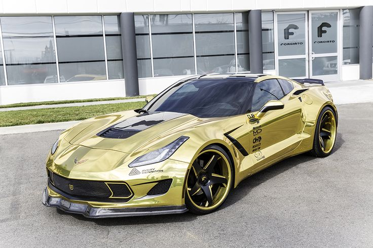 Gold Corvette Stingray C7 - Rockin, feelin like a million bucks!