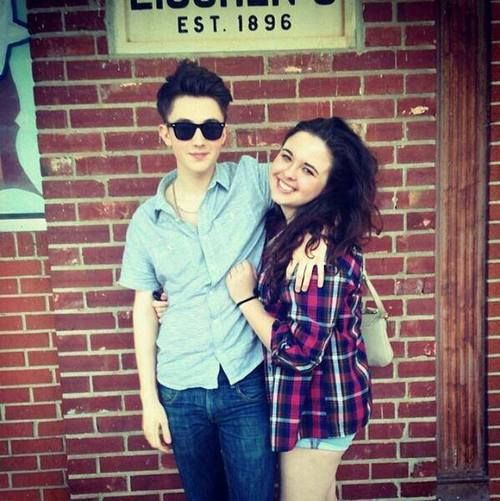 """Greyson Chance picture of the day, """"Greyson with his cousin…"""" - #Gramily"""