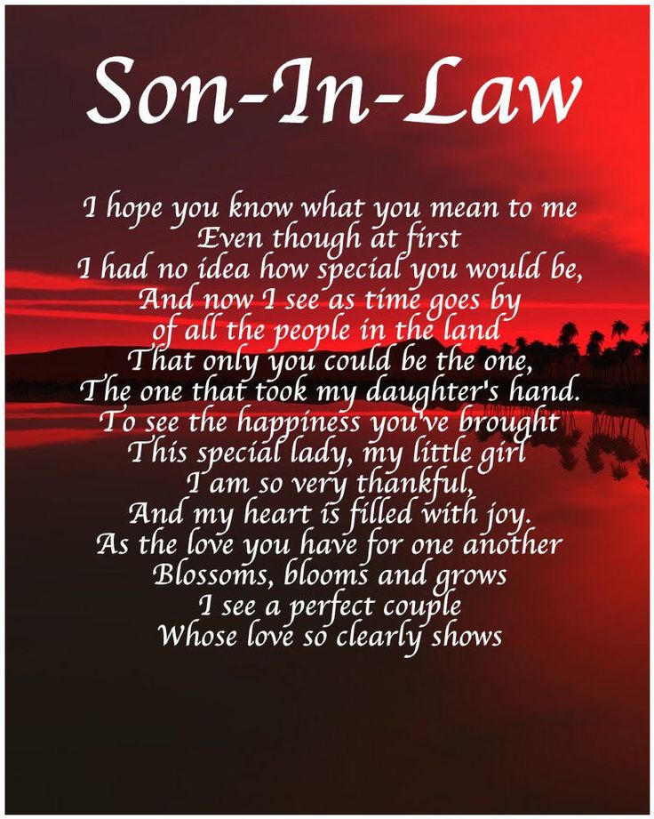 Personalised Son In Law Poem Birthday Christmas Christening Gift Present | Daughter in law ...