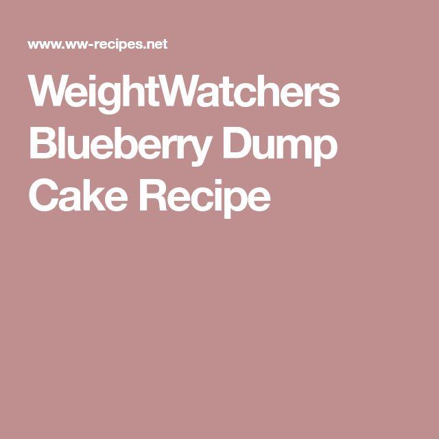 WeightWatchers Blueberry Dump Cake Recipe