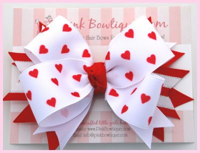 Photos of posh girl valentines | ... Valentines Day Girls Hair Bows - Posh Hearts Valentine Girls Hair Bow