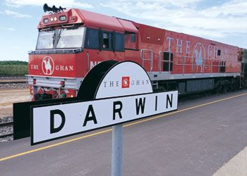 The Ghan arrives in Darwin after the trip north from Adelaide