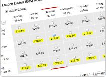 Cheap train tickets for Manchester - London