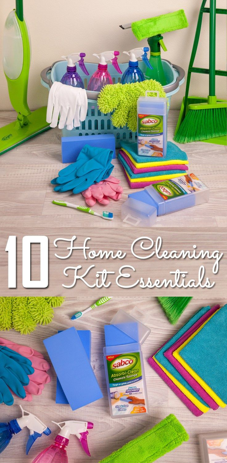 10 must have DIY home cleaning kit supplies. Cleaning tips, hacks, and ideas. Home cleaning kit essentials