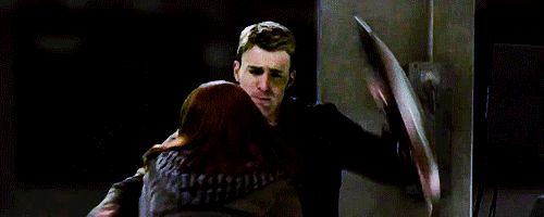 He always protects her, and she always knows to come to him. I don't ship it but still adorable.