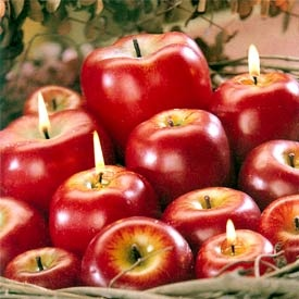 Apple Shaped Candles---my son would love to take a bite!