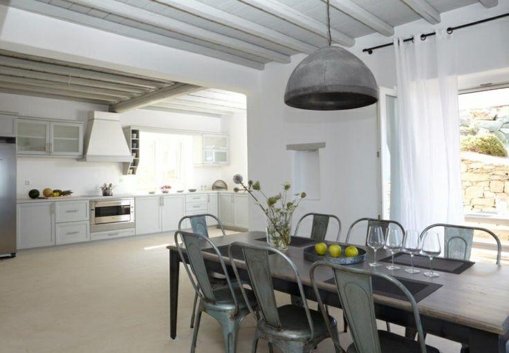 Open Plan Kitchen of Gold Villa in Mykonos: http://instylevillas.net/property/gold-villa-mykonos/