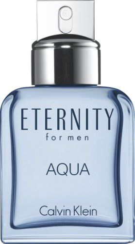 Eternity Aqua EDT Spray Men 1 oz. by Calvin Klein. Save 22 Off!. $27.25. Fragrance Notes: green leaves, white cedar, citrus, guaiac wood, water lotus, patchouli, Szechuan pepper, mirabelle, lavender, sandalwood, musk, chilled cucumber. Recommended Use: daytime. Design House: Calvin Klein. ETERNITY AQUA by Calvin Klein for MEN EDT SPRAY 1 OZ Launched by the design house of Calvin Klein in 2010, ETERNITY AQUA by Calvin Klein possesses a blend of green leaves, white cedar, citrus, gua...