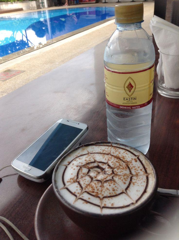 Morning coffee at Eastin Hotel Bangkok