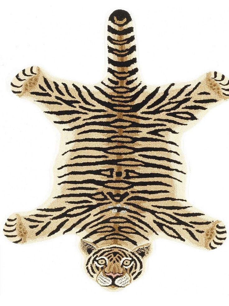 Hand-tufted by talented artisans in India, this beautiful rug will give your home style as if an interior decorator has designed it. The ivory, black or grey animal, striped pattern will give your roo
