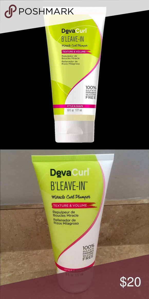 Deva Curl BRAND NEW B'Leave-in Miracle Curl Plumper for texture and volumn. BRAND NEW ! deva curl Other